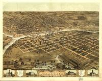 Aerial View of Des Moines, Iowa (1868)