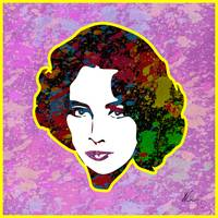 Elizabeth Taylor | Splatter Series | Pop Art