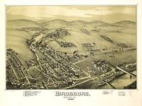 Aerial View of Birdsboro, Pennsylvania (1890)