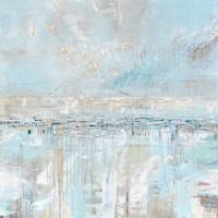 """""Sea Breeze"" Light Blue Coastal Abstract"" by ChristineBell"