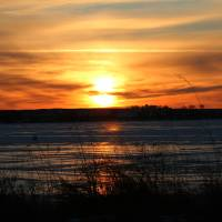 Winter sunset Art Prints & Posters by Etched Memories Photo - Lori Tordsen