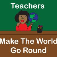 Black Teachers Make the World Go Round Art Prints & Posters by Valerie Waters