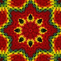 CHRISTMAS KALEIDOSCOPE SQUARE WALL ART