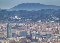 Aerial View of Barcelona City From Montjuic Park