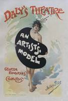 Artists model, 1896 french poster