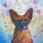"""Pumpkin Spice Sphinx Flower Cat"" by RDRiccoboni"