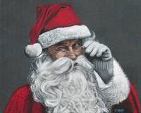 Original drawing of Santa Claus