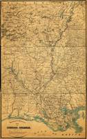 Map of Louisiana & Arkansas (1864)
