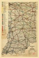 Railroad Map of Indiana (1896)