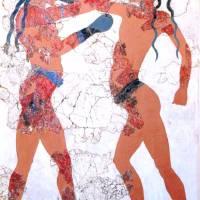 """Minoan Boxing Boys Fresco"" by MinoanAtlantis"