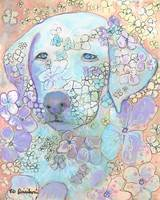 Violet White Labrador Retriever Flower Dog