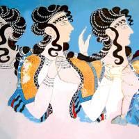 """""""Minoan Ladies in Blue Fresco"""" by MinoanAtlantis"""
