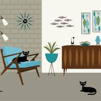 Z Chair Art Prints & Posters by Donna Mibus