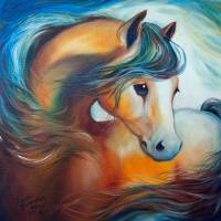 WENDY my HORSE large file Art Prints & Posters by Marcia Baldwin