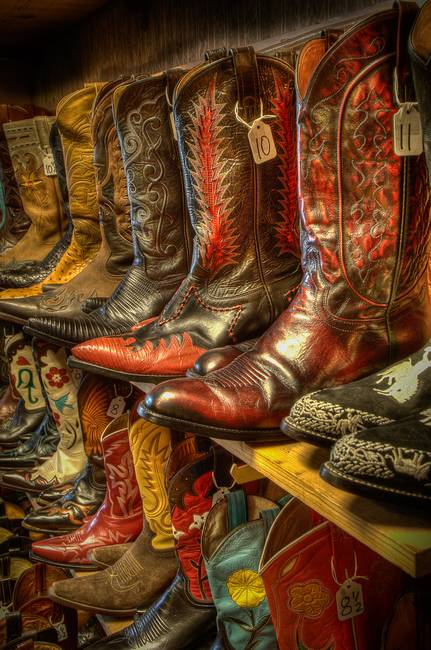Boots in the Wild West Store (1)
