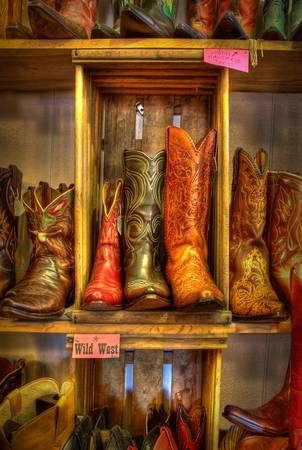 Boots in the Wild West Store