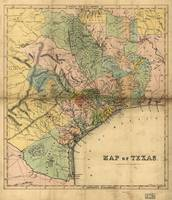 Map of Southeastern Texas (circa 1840)