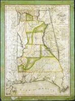Map of Alabama by John Melish (circa 1818-1820)