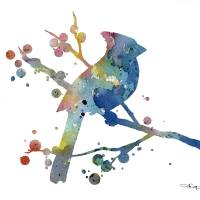 """Cardinal Blue"" by k9artgallery"