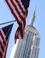 Star spangled banner and Empire State building