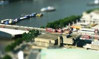 London Eye tilt-shift: London buses