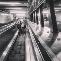 Brooklyn Subway Station Escalator