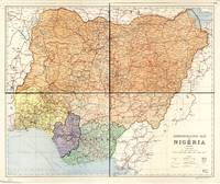 Administrative Map of Nigeria (1965)
