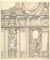 Design for Elevation for Elaborate Wall and Vault