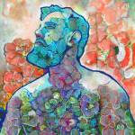 Flower Storm Man in the Red Poppies by RD Riccoboni