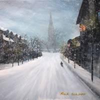 Annapolis Snow Day Art Prints & Posters by Rick Schimpf