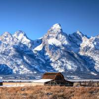 Tetons in Fresh Snow Art Prints & Posters by RH Miller