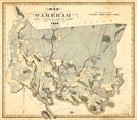 Map of Wareham, Massachusetts (1832)