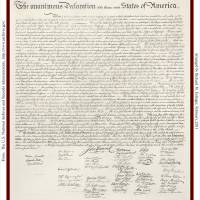 The Declaration Of Independence Document Art Prints & Posters by Richard Eslinger