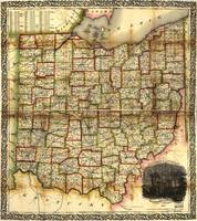 Railroad & Township Map of Ohio (1851)