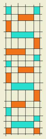 Grid one Aqua and Orange