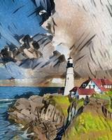 Lighthouse Nautical Landscape Art