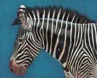 Original oil painting Zebra profile