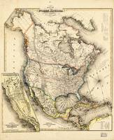 Map of North America (1850)
