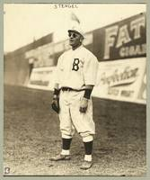 Casey Stengel, full-length portrait, wearing sungl