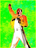 Freddie Mercury | Splatter Series | Pop Art