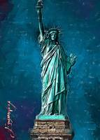 The Statue of Liberty art by Edward Vela