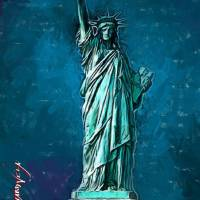 The Statue of Liberty art by Edward Vela Art Prints & Posters by Edward Vela