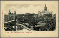 Hartford Capitol and Arch on Old Postcard