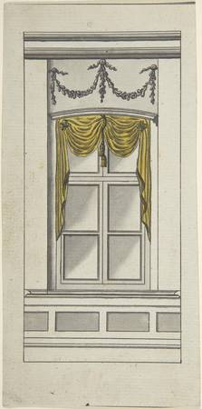 Design for a Window with Yellow Drapery  Attribute