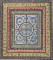 Design for Ceiling with Plant and Arabesque Decora