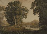George Barret Junior Landscape with a Bridge