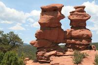 Twin sisters. Garden of the Gods.