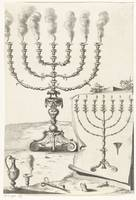 Golden seven-armed candlestick or menorah, Francoi