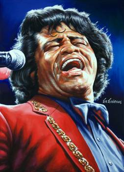 """James Brown Godfather of Soul portrait painting"" by Spiros Soutsos"