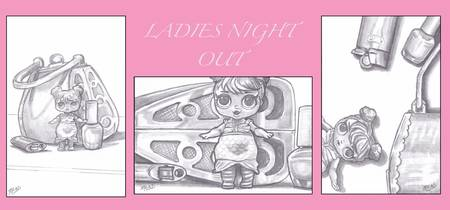 Ladies Night Out Pink Collage